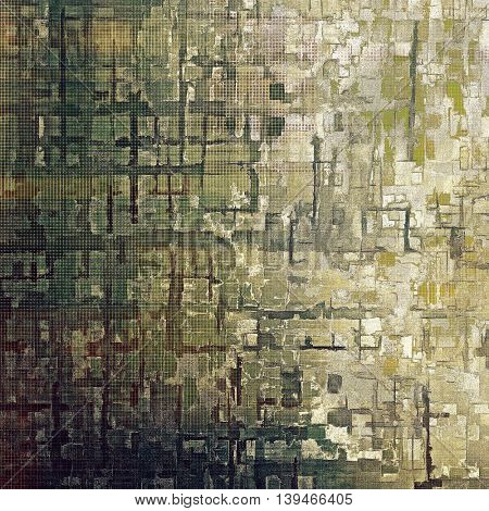 Grunge texture, scratched surface or vintage background. With different color patterns: yellow (beige); brown; gray; green; cyan; white