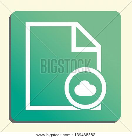 File Cloud Icon In Vector Format. Premium Quality File Cloud Symbol. Web Graphic File Cloud Sign On