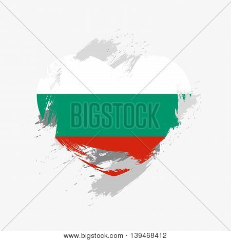 Vector Grunge Flag Of Bulgaria