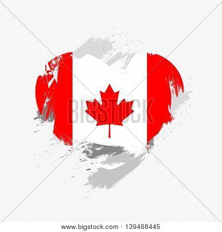 Vector Grunge Flag Of Canada