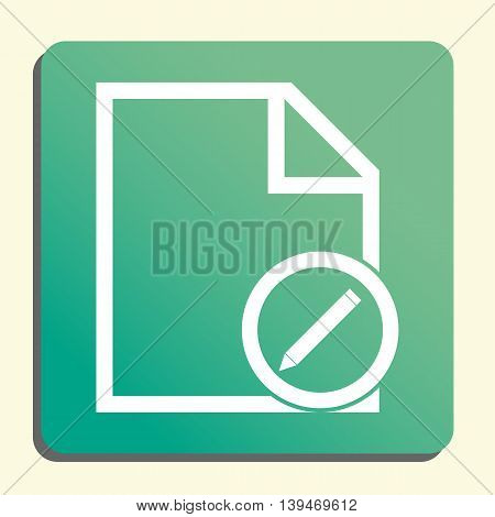 File Edit Icon In Vector Format. Premium Quality File Edit Symbol. Web Graphic File Edit Sign On Gre