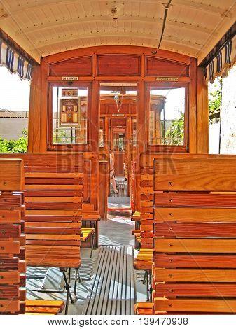 Inside Tram Of Soller - Port De Soller, Majorca