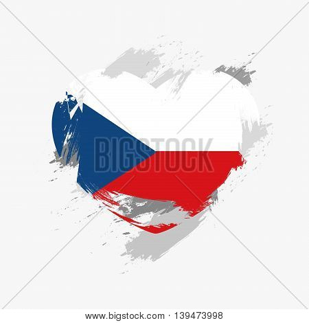 Vector Grunge Flag Of Czech