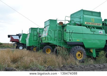 Combine Harvesters Don. Agricultural Machinery.
