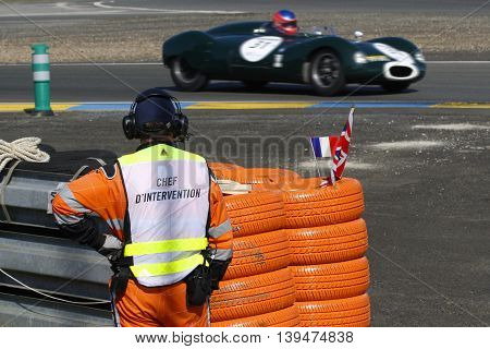 Le Mans, France, July 9, 2016 : An Old Cooper At Mulsanne During Le Mans Classic On The Circuit Of T