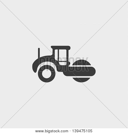 Asphalt machine icon in a flat design in black color. Vector illustration eps10