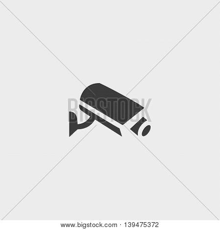 Surveillance icon in a flat design in black color. Vector illustration eps10