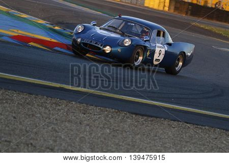 Le Mans, France, July 9, 2016 : Old Car Races During Le Mans Classic On The Circuit Of The 24 Hours.