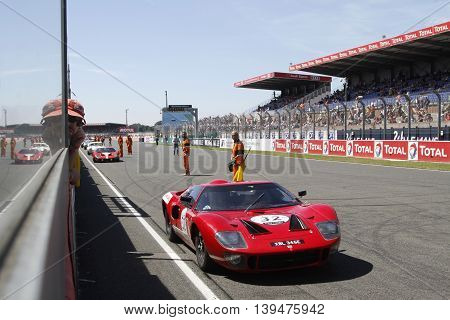 Le Mans, France, July 10, 2016 : Ford Gt410 Before The Start Of Le Mans Classic On The Circuit Of Th