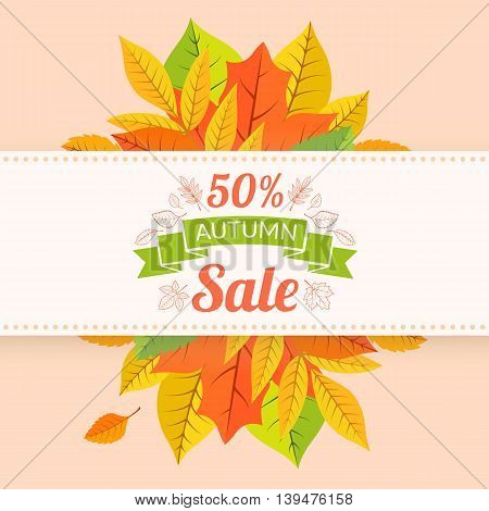 Fall season background. Vector illustration easy to edit.