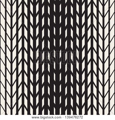 Vector Seamless Black And White Tire Halftone Lines Geometric Pattern. Abstract Geometric Background Design