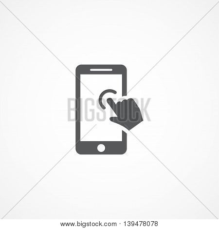 Gray Touch screen Icon on white background
