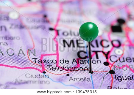 Teloloapan pinned on a map of Mexico