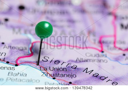 La Union pinned on a map of Mexico