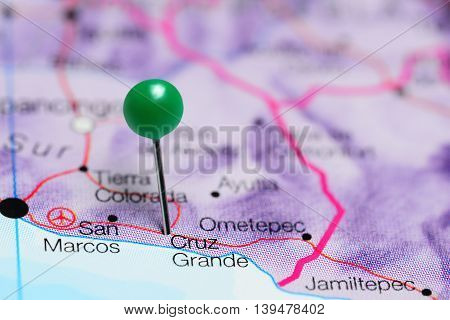 Cruz Grande pinned on a map of Mexico