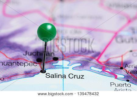 Salina Cruz pinned on a map of Mexico