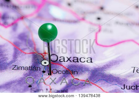 Ocotlan pinned on a map of Mexico