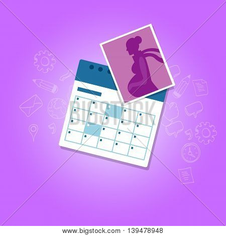 maternity leave parental pregnant woman get paid during pregnancy absent vector