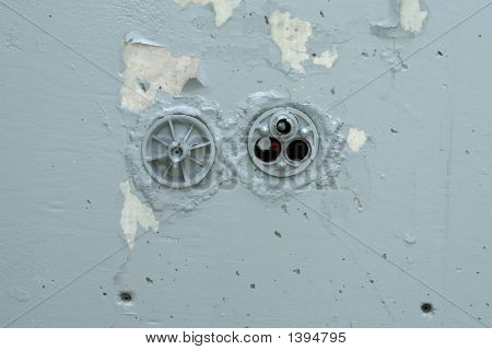 Peeling Grey Wall