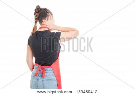 Young Female Employee Having Neck Pain