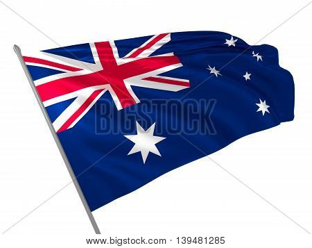 3d illustration of Australia flag waving in the wind