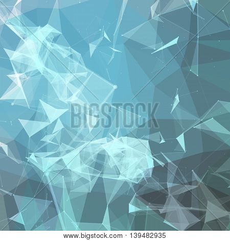 Abstract colorful triangulated geometric background, vector illustration