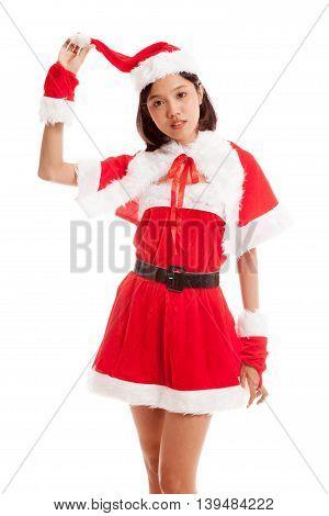 Asian Christmas Santa Claus Girl