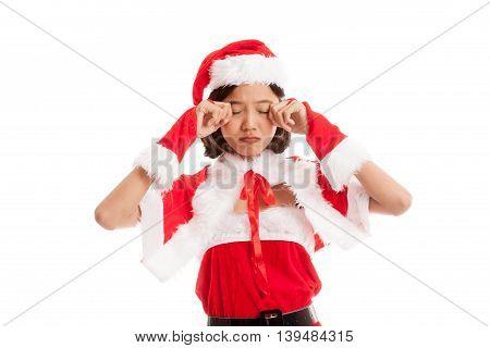 Asian Christmas Santa Claus Girl Cry