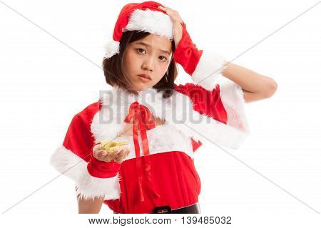 Asian Christmas Santa Claus Girl Diet With  Measuring Tape