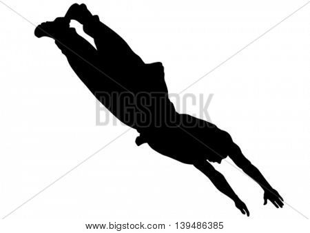 Young man in a jump on white bakground