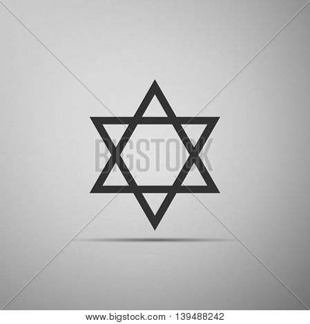Star of David icon on grey background. Adobe illustrator
