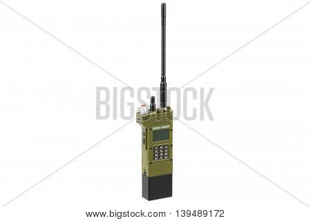 Military radio portable equipment digital technology. 3D graphic