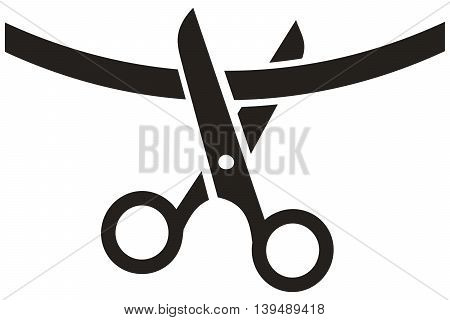Cutting Ribbon Icon scissors ribbon sewing item computer icon cutting