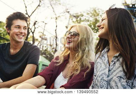 Hangout Park Friends Enjoyment Lifestyle Concept