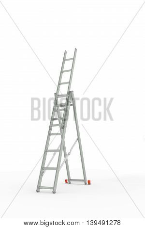 3d illustration of a ladder isolated on white background