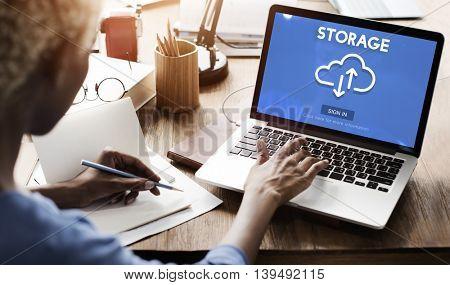 Storage Big Data Backup Computing Information Concept