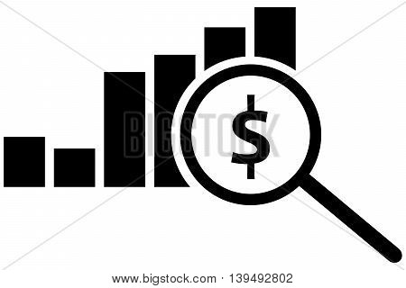Analyse icon finance growth currency examining searching research