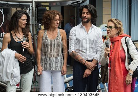Giffoni Valle Piana SA ITALY - July 17 2016: Cast Edhel attends Giffoni Film Festival