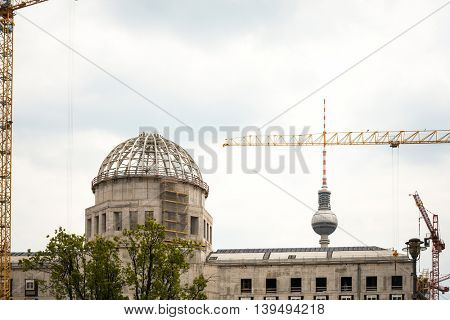 BERLIN, GERMANY- May 18 Tv tower or Fersehturm in Berlin on May 18, 2016. BERLIN, Germany.