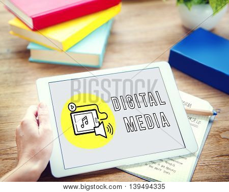 Digital Media Technology Devices Graphic Concept