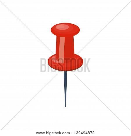 Push pin in a flat style. Attachment.Paperwork.Vector illustration