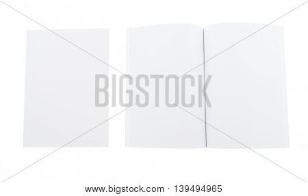 Blank catalog,book mock up on white background
