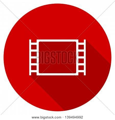 movie red vector icon