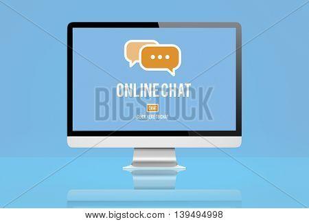 Online Chat Communication Message Concept