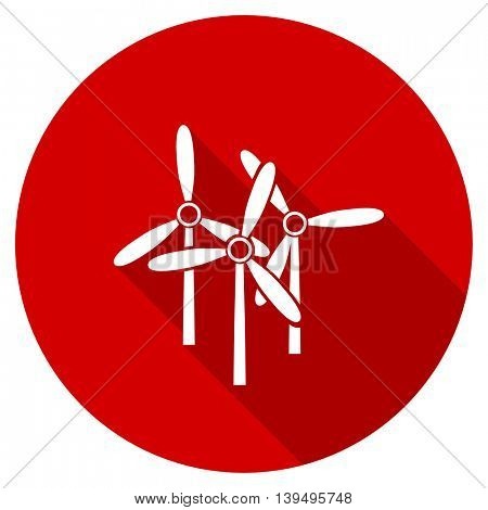 windmill red vector icon