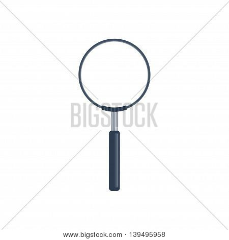 Magnifying Glass, loupe in a flat style. Zoom. Magnifier. Vector illustration