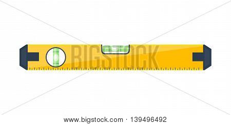 Bubble level tool in a flat style. Ruler. Building and engineering equipment. Measure. Vector illustration