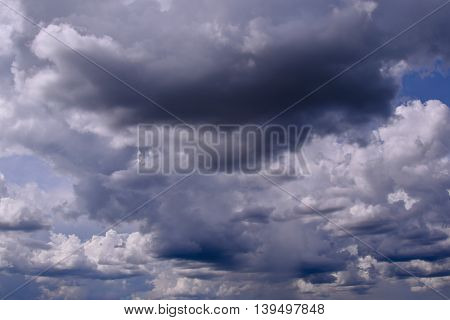 sky with stormy cloudsin rainy season for nature background