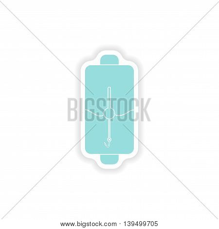 paper sticker on white background  mobile battery