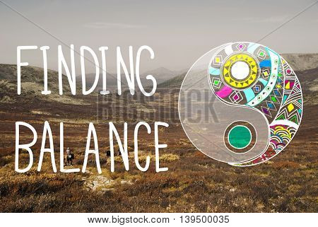 Finding Balance Yin-yang Wellbeing Concept